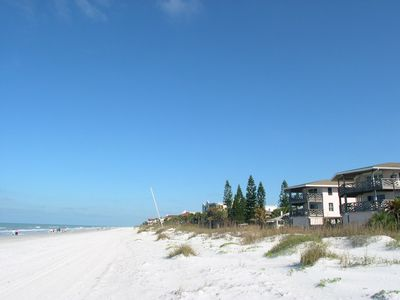 Right on the Beach! Cypress N Sun unit B2 is on the top floor, in the second building from the right