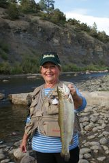 Pagosa Springs house photo - Home Owner, Barbara, Her 5lb Rainbow Caught Behind Malt Shop In Down Town Pagosa