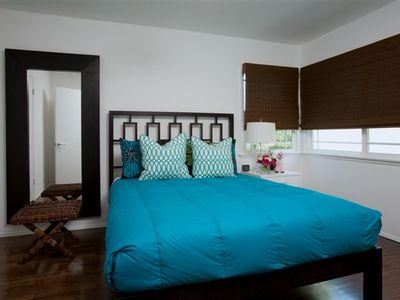 Bedroom with queen bed and ensuite bath