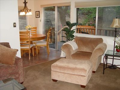 Partial view of Living Room and Side Deck