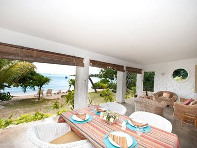 3 bedroom beachfront villa on the best beach of Grand Baie