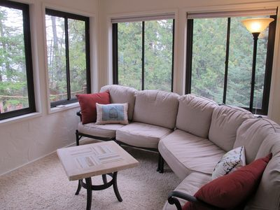 Three season sunroom with TV/cable