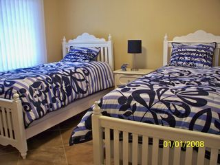 Oceans Mist Ocean City condo photo - Bedroom 3 with flat screen tv attaches to full bath