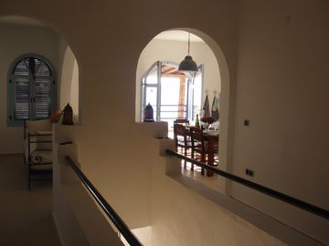 View from Dreams main staircase into lounge