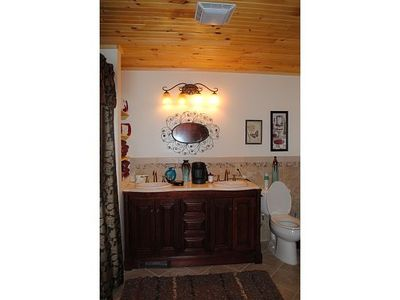 Bathroom with Extra-Large Tub in Main House lower level apartment.