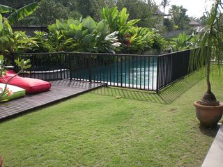 Canggu villa photo - Child safety railing around pool - option to be fitted