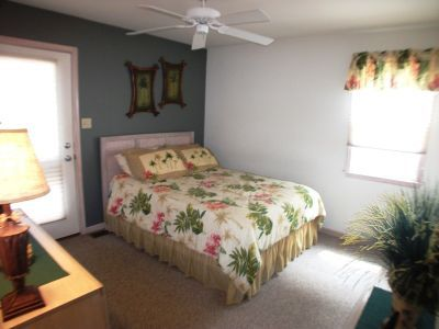 2nd Floor bedroom, Queen Bed, TV, private deck w/patio furniture