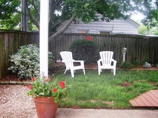 Virginia Beach house photo - View of backyard with privacy fence and patio