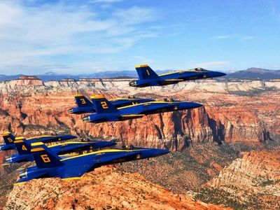 Blue Angels over Zion National Park