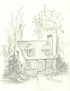 Artist impression of Pinetree cabin