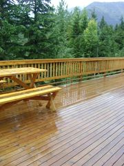 Girdwood lodge photo - huge deck can hold 40 people