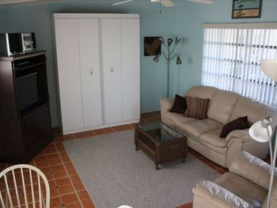 The Living Room with Queen Murphy Bed