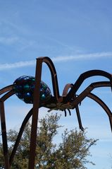 Austin studio photo - Spider sculpture along Mueller run trail. Trail head 2 blocks from rental