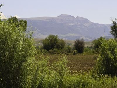 View of The Sleeping Indian Mountain to the east
