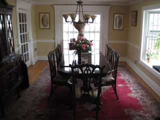 Waretown house photo - Formal Dining Room - with view of lagoon thru french doors.