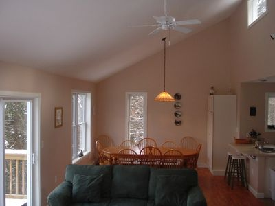 Campton house rental - Open Dining and Living area