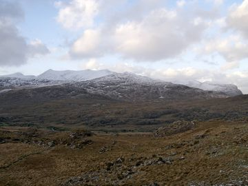 A dusting of snow on the Macgillycuddy's Reeks