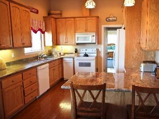 Julian house photo - Kitchen: has dishwasher oven, stove,microwave, granite counters