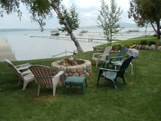 Lake Leelanau house photo - Stone fire pit