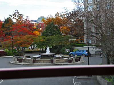 Your balcony has a tiny glimpse of the Inner Harbour!