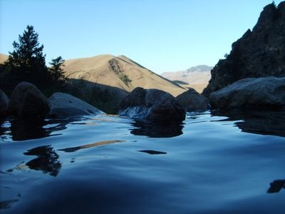 HIKE TO GOLDBUG HOT SPRINGS. ENJOY NATURAL POOLS AND WATERFALLS.