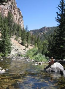 Hike directly from the house into Warm Springs Canyon for a picnic and fishing