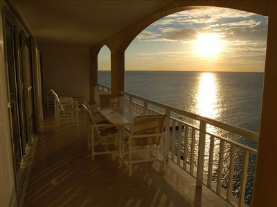 Sunset from one of the 3 oceanfront terraces