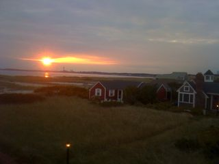 Truro cottage photo - Sunset from rooftop deck Provincetown tower