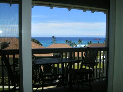 Four Seasons Hualalai condo rental - Ocean view from lanai