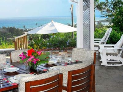 Dining with a view of the Caribbean