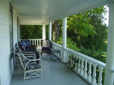 Ellmann House Front Porch Overlooking Fish Creek
