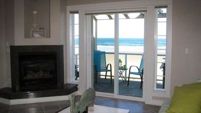 View of Rockaway Beach from Kitchen, Eating Area, Living Room, Master Bed & Den