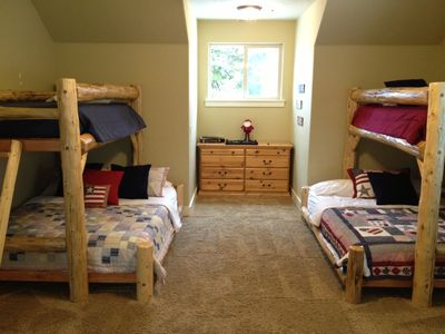 2nd Upstairs Bedroom w/ Bath, Walk in Closet and Two Bunk Beds (Twin over Queen)