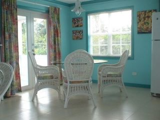 Comfortable dining area and sea view - Spanish Wells cottage vacation rental photo