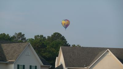 Captured by one of our guest from the patio...the Hot Springs Hot Air Balloon.