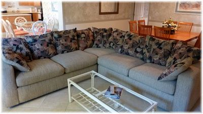 Super Soft Large Sectional Sofa Sleeper is in the Large Living Rm w/ 42