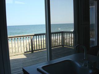 Amazing ocean view from 2nd flr. kitchen! - Brant Beach house vacation rental photo