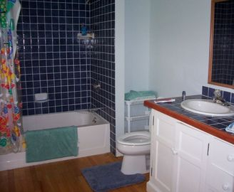 BRIGHTWOOD: Blue Room Bathroom