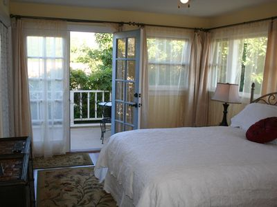 Santa Barbara house rental - Upstairs suite has its own balcony