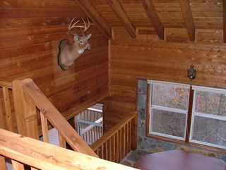 Blue Ridge cabin photo - Hot Tub landing between main level and den