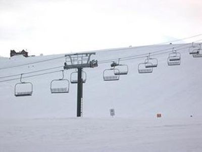 Just 20 yards to ski lifts at Tahoe Donner Downhill Ski Resort!