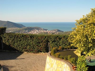 Panoramic villa with a garden in the Cilento area just minutes from the sea