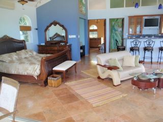 Rincon villa photo - Main Villa 1600 sq ft master bedroom w/lounge & wet bar