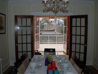 Downtown - Washington DC house photo - Large dinette table, family sitting room, large deck, yard w/carriage home -yd.