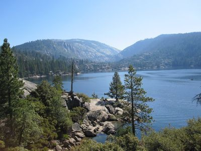 View of Pinecrest Lake. Hike, swim, boat, fish, relax. Beautiful 40 minute drive