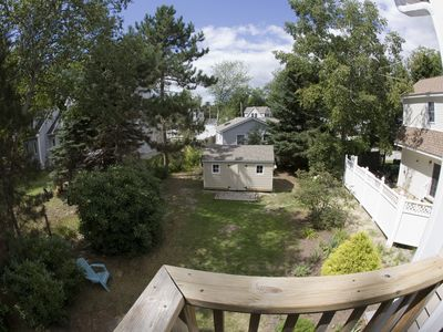 Scarborough and Pine Point house rental - Back Yard viewed from Upstairs Masterbedroom Balcony Deck