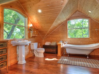 Gorgeous Master Bathroom with a Clawfoot tub