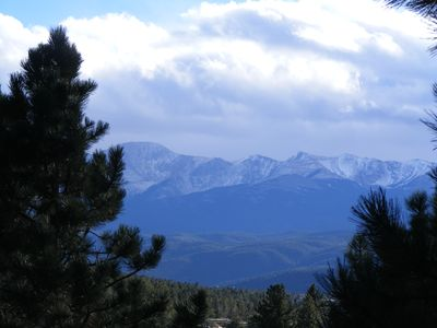 Another angle of Pikes Peak from the front deck