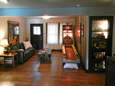 Front Living Room with Skee Ball Table