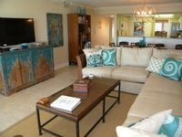 Compass Point Gulffront Condo, completely renovated and gorgeous, 2 bedroom + Den, with cabana, weekly rental, pool and tennis